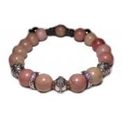 bracelet perles rhodonite