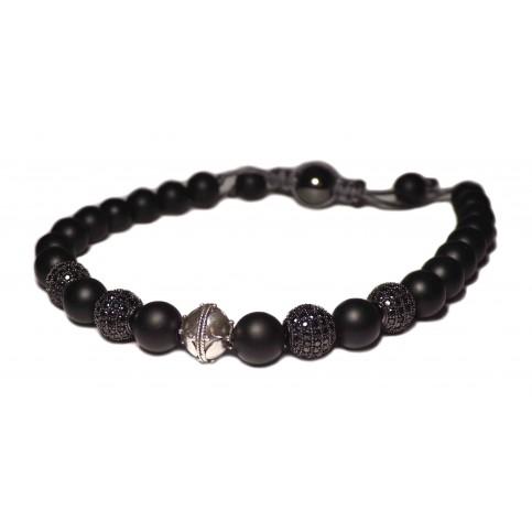 Le bracelet shamballa noir onyx