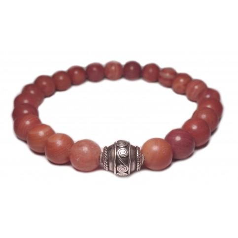 Le bracelet rhodonite rose