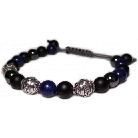 Le shamballa bracelet perles Lapis lazuli