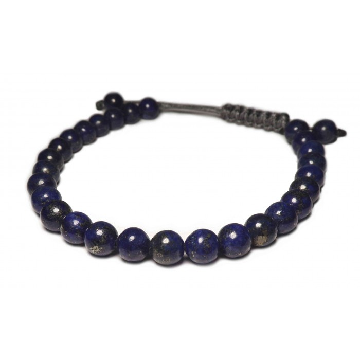 un bracelet perles Lapis lazuli