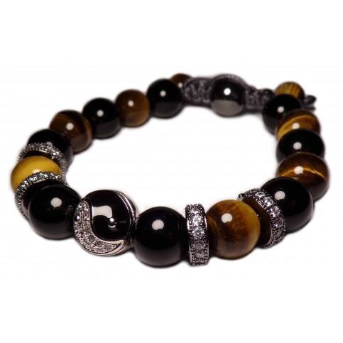 Le shamballa bracelet Yin Yang