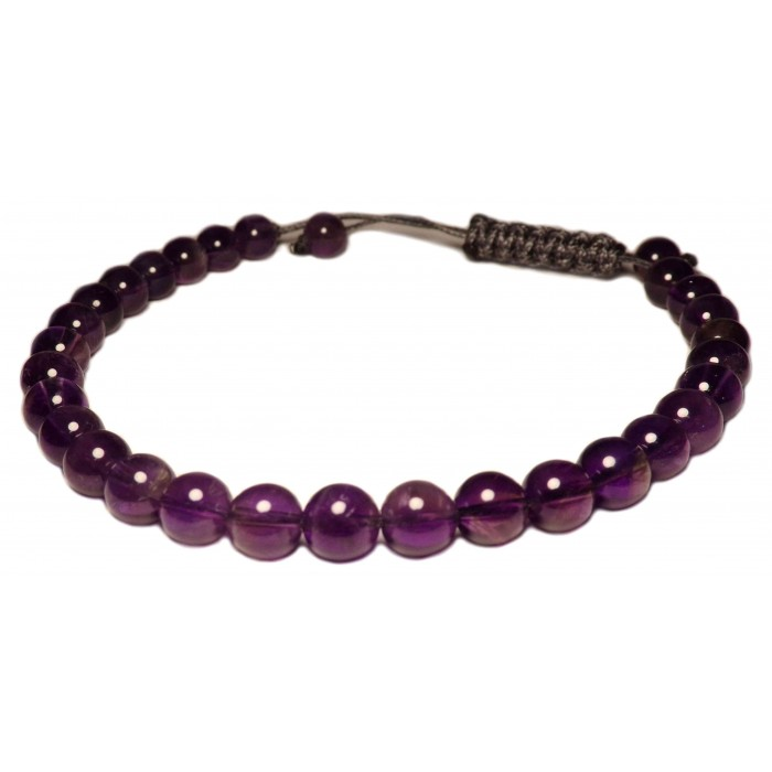 bracelet cordon Améthyste