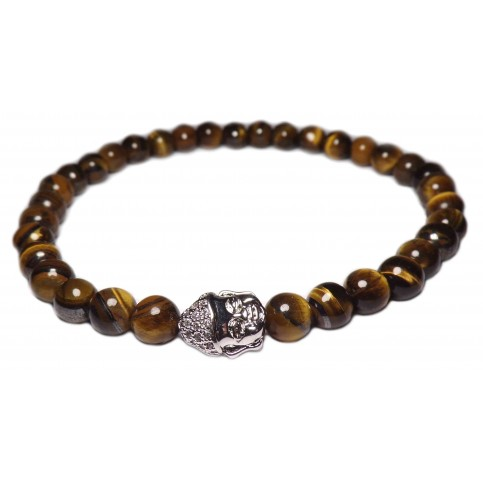 bracelet perles Oeil de tigre petites