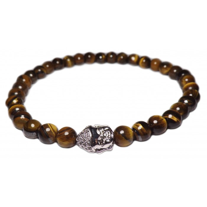 un bracelet perles Oeil de tigre petites