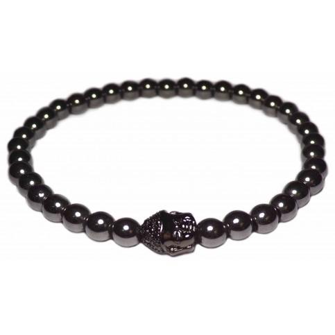 bracelet perles Hématite et Bouddha