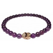 bracelet Améthyste et Bouddha or