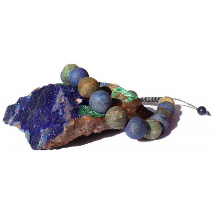 bracelet perles Azurite Malachite