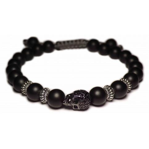 un bracelet shamballa cristal noir