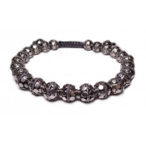 bracelet perles en argent