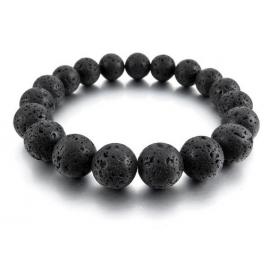 Le bracelet homme pierre de lave