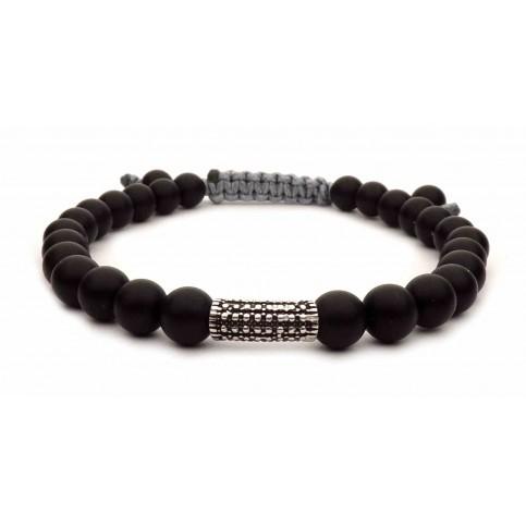 bracelet cordon petites perles noir