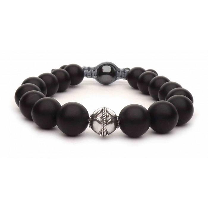 bracelet perles noir  Onyx