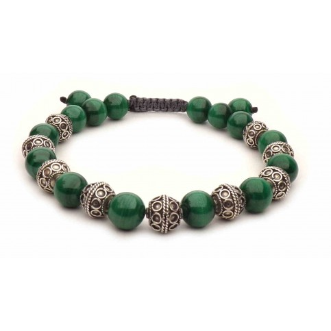 Le bracelet shamballa perles Malachite
