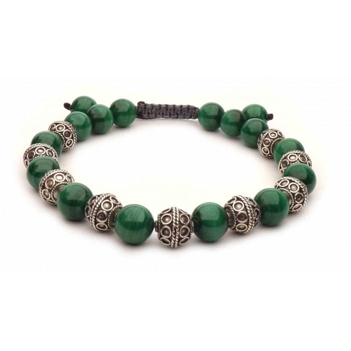 bracelet perles en Malachite vrai