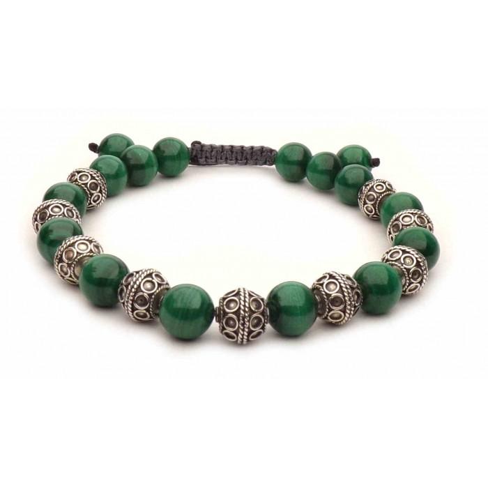 bracelet malachite shamballa vrai