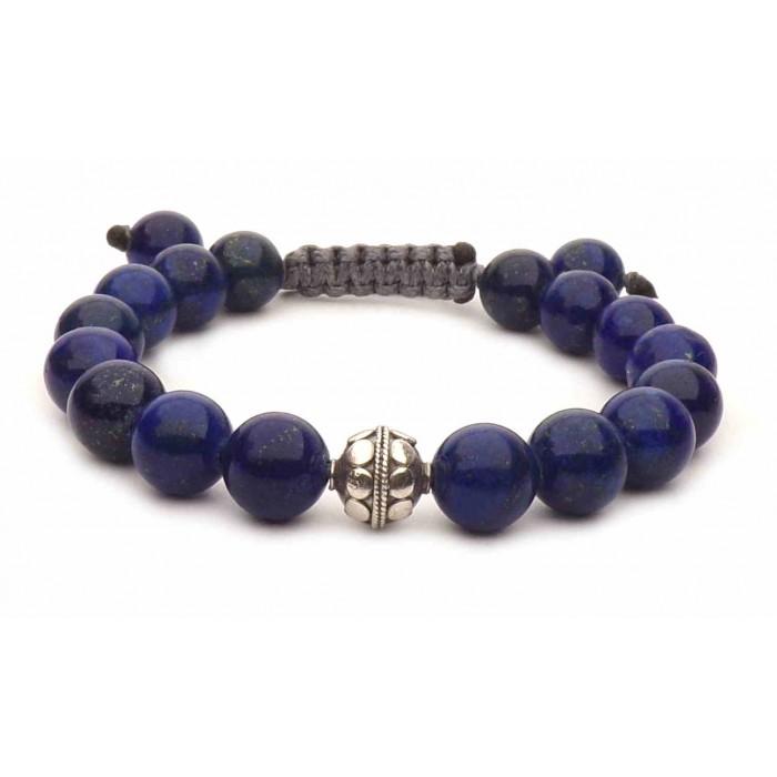 bracelet perles Lapis Lazuli bleu
