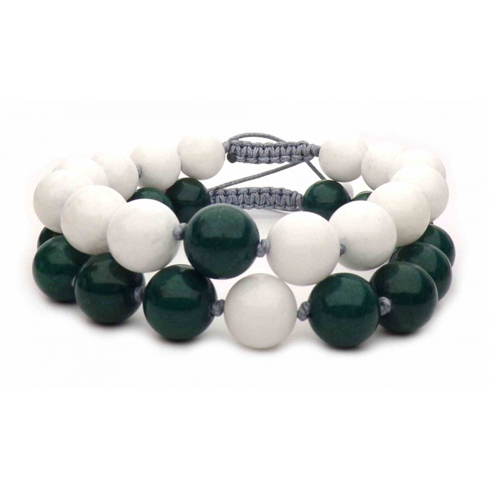 bracelets distance perles en jade