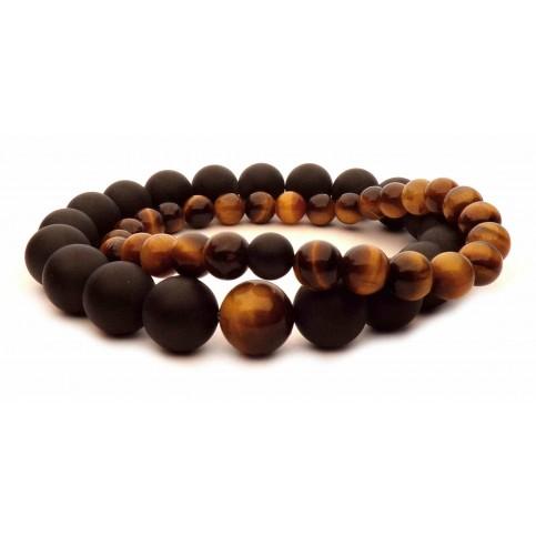 paire de bracelets de perles pour couple saint valentin
