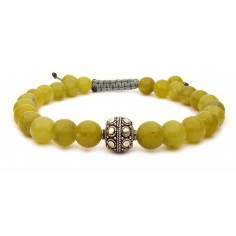 Le bracelet shamballa Jade vert