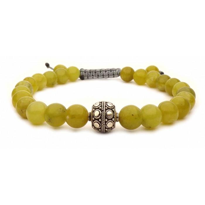 bracelet avec des perles en citrine