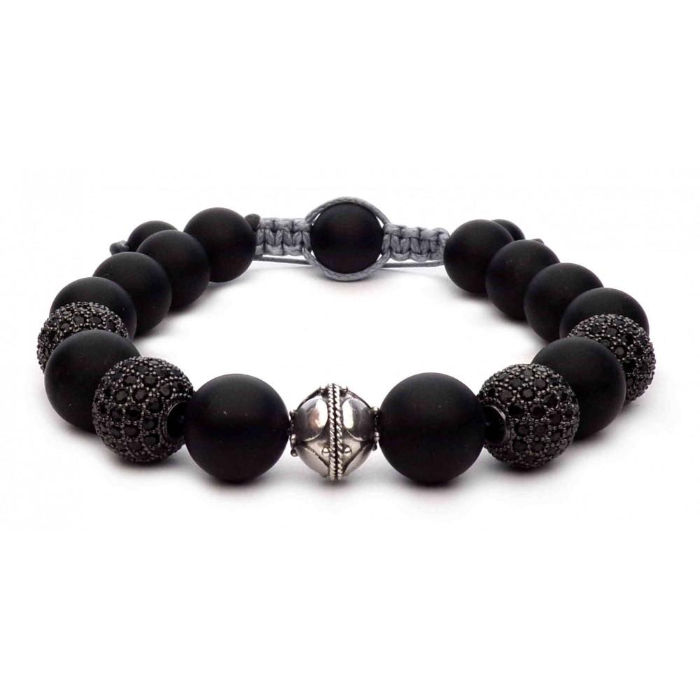 bracelet shamballa perles noir 10mm et disco ball pour. Black Bedroom Furniture Sets. Home Design Ideas
