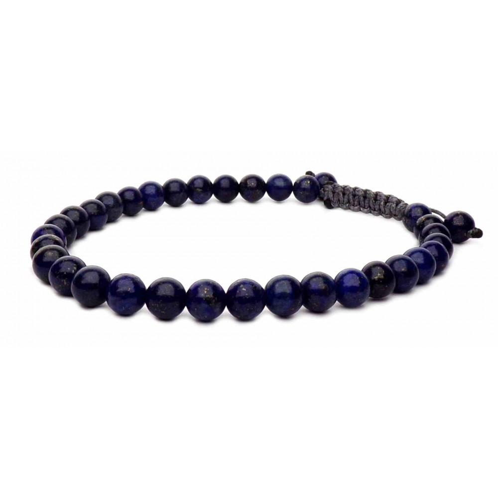 le bracelet lapis lazuli perles sur cordon homme et femme 580. Black Bedroom Furniture Sets. Home Design Ideas