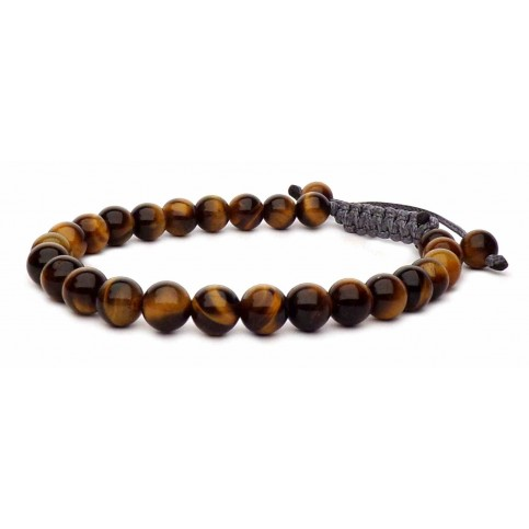 Le bracelet shamballa Oeil de tigre