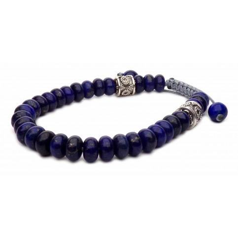 Le bracelet shamballa perles Lapis-lazuli