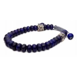 Le bracelet shamballa pierres Lapis-lazuli