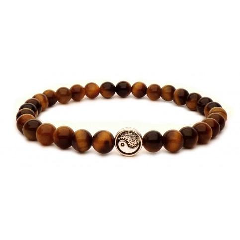 bracelet perle yin yang en argent