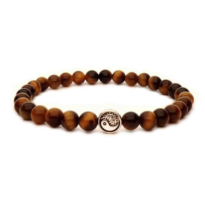 le bracelet perles oeil de tigre perles yin yang homme et femme 567. Black Bedroom Furniture Sets. Home Design Ideas