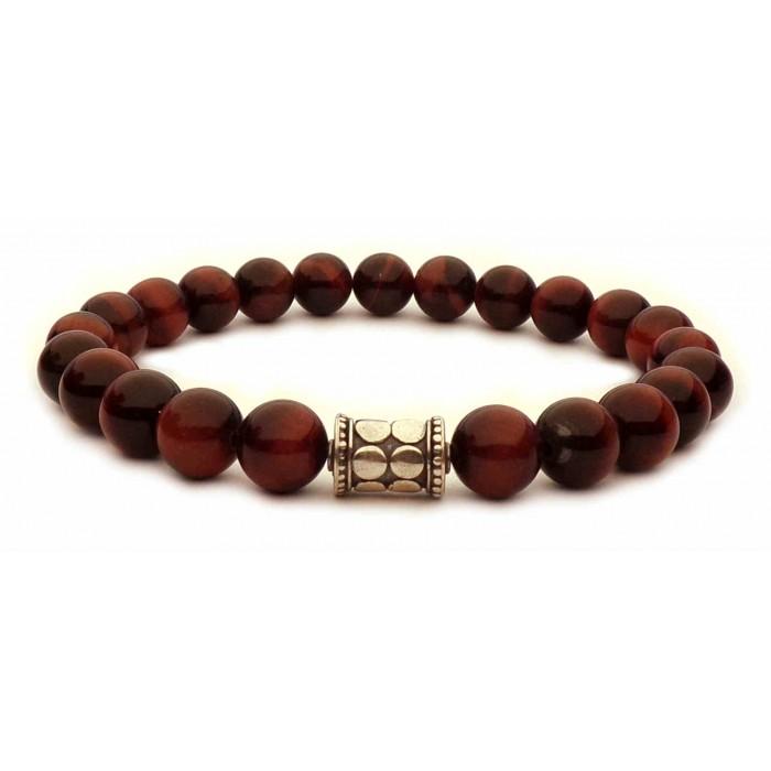bracelet perles oeil de taureau