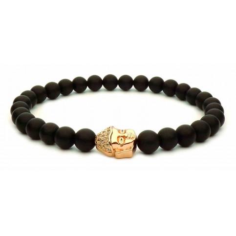 Le bracelet perle Bouddha or