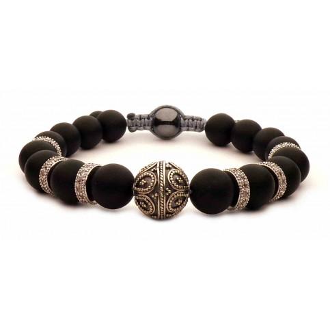 Le shamballa bracelet noir