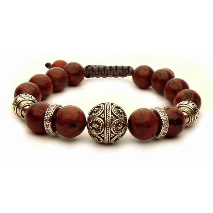 bracelet Jaspe marron