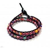 bracelet wrap a enrouler bijoux 2 rang