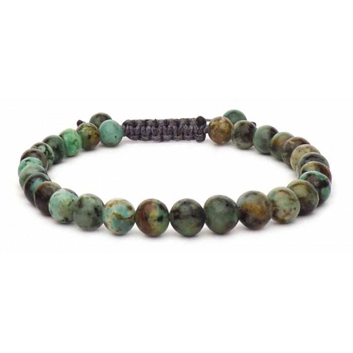 bracelet perles agate africaine verte
