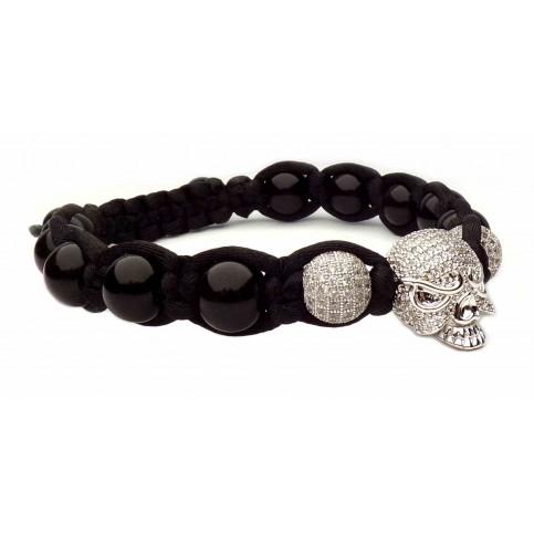 Bracelet tete de mort inspiration J.H V3