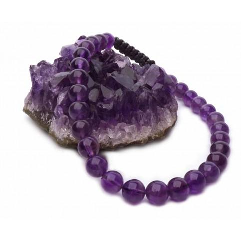 Le bracelet shamballa perles Améthyste