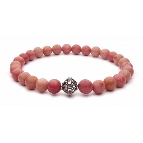 bracelet petites perles en rhodonite rose