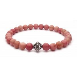 Le bracelet Tibetain perles Rhodonite