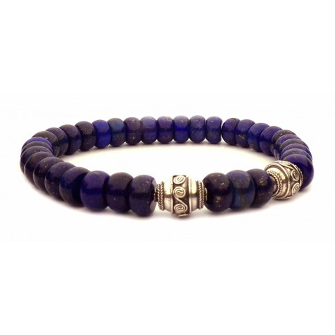 Le bracelet Tibétain perles Lapis lazuli
