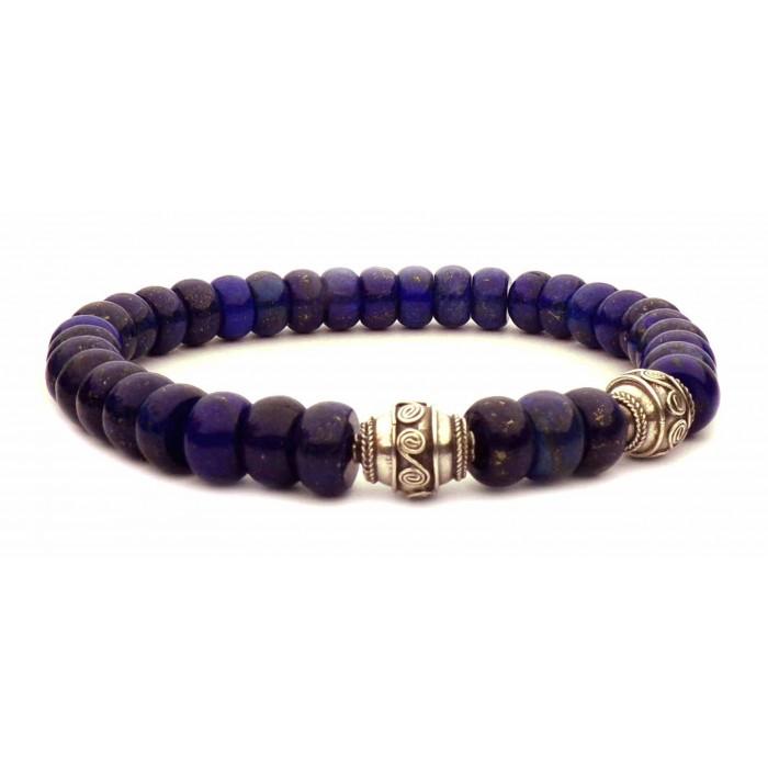 bracelet perles Lapis lazuli abaque