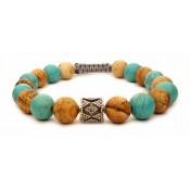 bracelet perles turquoise et jaspe