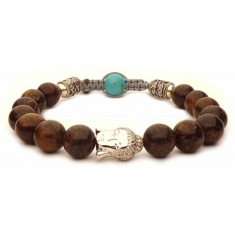 Le bracelet Bouddha Bronzite