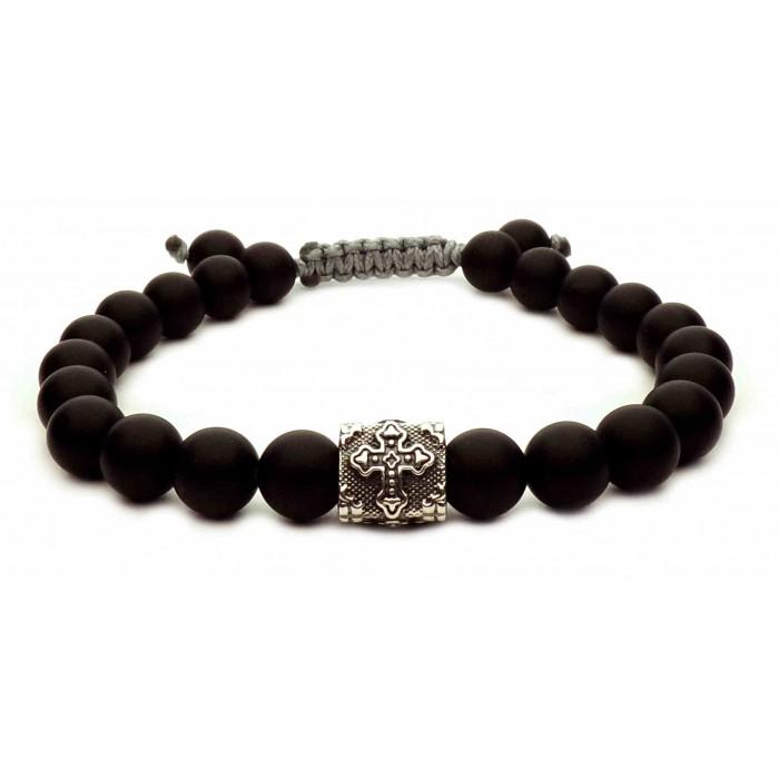 bracelet shamballa croix argent