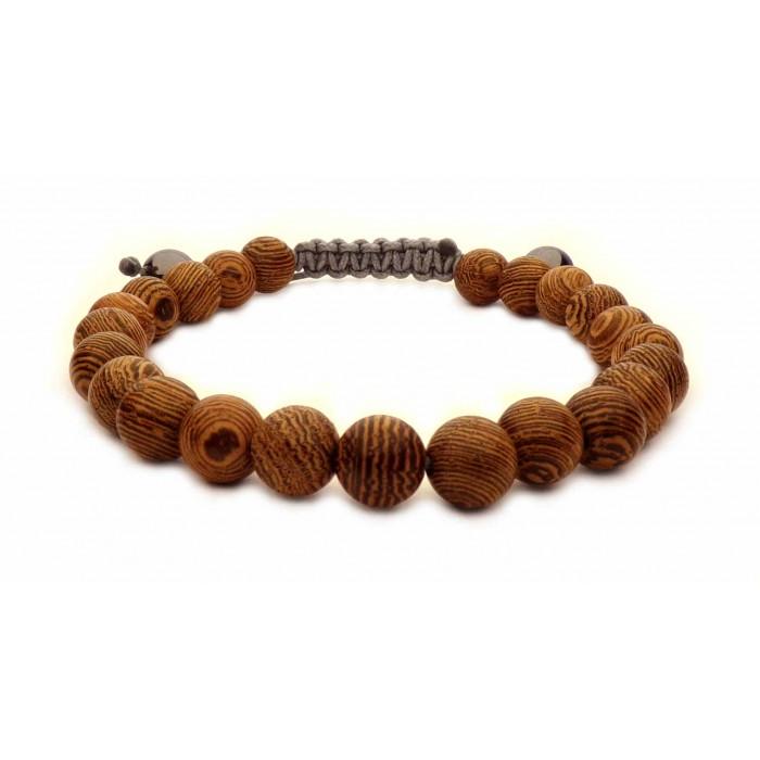 bracelet shamballa perles en bois