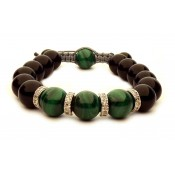 bracelet shamballa avec perles Malachite vertes