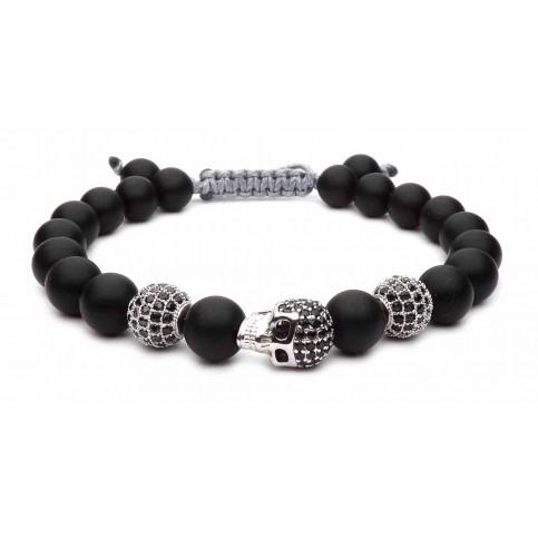 Le bracelet tete de mort argent